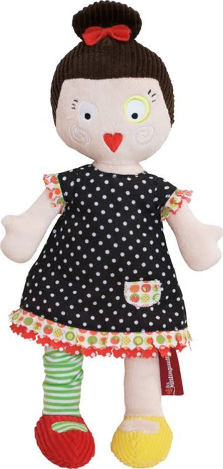 Deglingos Мягкая кукла Mistinguette Lucette черный вельвет