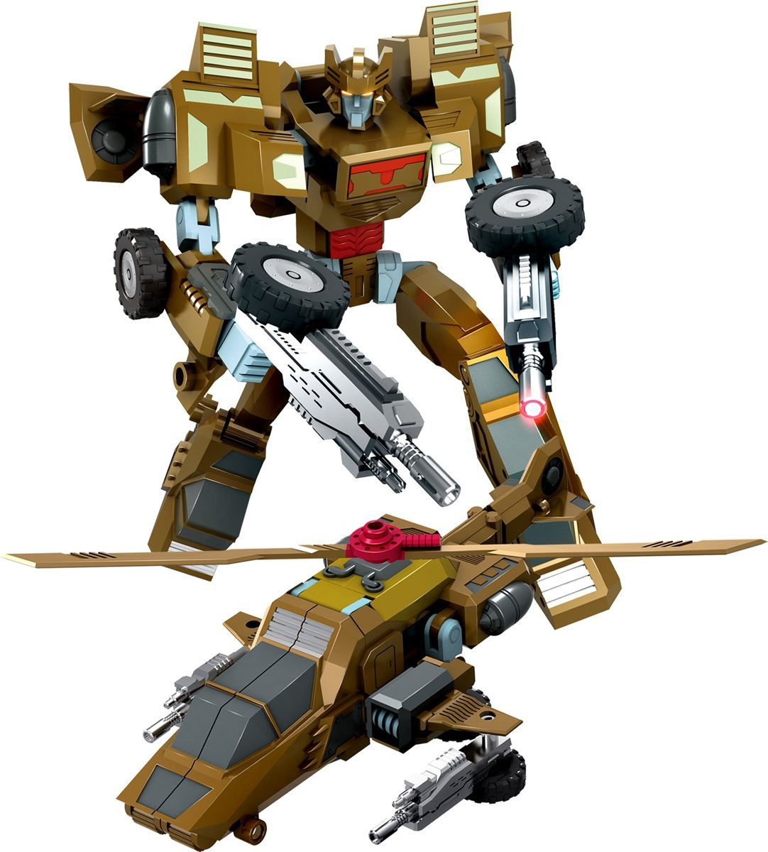 Склад уникальных товаров Робот-трансформер Вертолет XL цвет оливковый