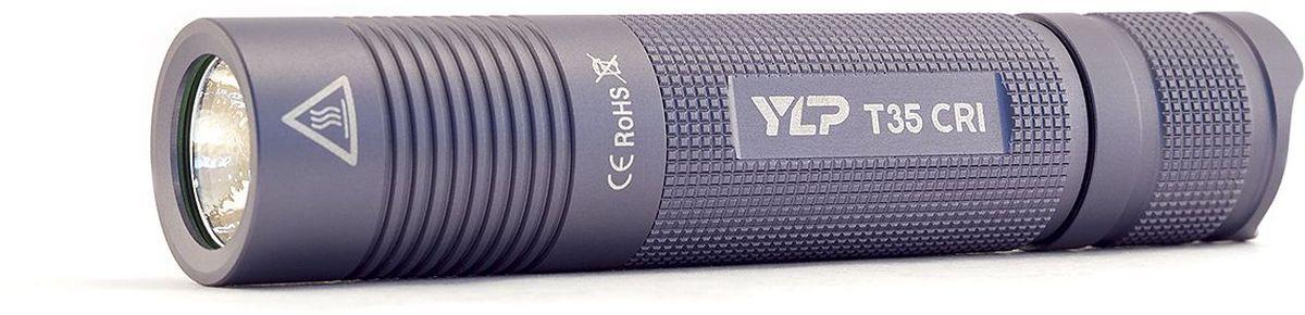 Фонарь ручной Яркий Луч YLP Escort T35CRI4605400100Ручной фонарь Яркий Луч YLP Escort T35CRI. Профессиональная версия карманного фонаря T35, с диодом высокой цветопередачи, нейтральным светом и улучшенной эффективностью электроники. • Новейший светодиод с повышенной цветопередачей Nichia 219 °C 93CRI. • Нейтральный свет, приближенный к солнечному, 4000K.• Дальнобойность до 105 метров по стандарту ANSI.• Максимальный световой поток, 400 люмен.• Медная звезда с прямым отводом тепла.• Питание от аккумулятора 18650 (в комплект не входит).• Три режима яркости: 100%, 30%, 5%.• Время работы до 50 часов.• Качественная стабилизация яркости.• Индикация разряда батареи.Световой поток фонаря достигает 400 стабилизированных ANSI-люменов. Новейший нейтральный светодиод повышенной цветопередачи Nichia 219 °C 93CRI обеспечивает фонарю максимально естественную передачу цветов и оттенков. Цветовая температура составляет 4000К, на границе нейтрального и теплого света.Фонарь работает на Li-Ion аккумуляторе формата 18650 (в комплект не входит), разрешенный диапазон питания 3.0–4.2В. Рекомендуется использовать качественные защищенные аккумуляторы от проверенных производителей. Использование двух батареек CR123A или аккумуляторов RCR123 запрещено. В фонаре используется усовершенствованный драйвер, обеспечивающий более высокую эффективность работы в среднем и слабом режимах, при отсутствии какого-либо видимого мерцания. Продолжительность работы фонаря в максимальном режиме яркости составит 1.5–2.5 часа, в зависимости от емкости используемого аккумулятора. Время работы в среднем режиме около 8 часов, в слабом режиме — до 50 часов. При разряде батареи фонарь включает индикацию миганием основного диода. В этом случае рекомендуется перейти на слабый режим яркости и при первой возможности зарядить или заменить аккумулятор. Для защиты от случайного включения реализована возможность заблокировать фонарь отворотом хвостовой части. Качественный корпус из анодированного алюминия защитит фонарь от уд