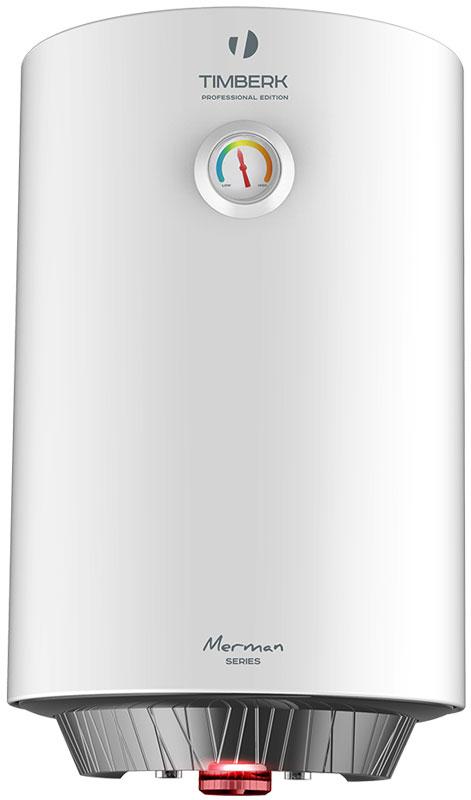 Timberk SWH RED1 50 V водонагреватель накопительныйSWH RED1 50 VВнешний корпус водонагревателя Timberk SWH RED1 50 V сделан из стали с защитным и, одновременно, декоративным эмалированием.Нижняя крышка оригинальной формы Water Splashing выполнена из темно-серого пластика - смелый контраст с белоснежным цветом корпуса.Увеличенный индикатор режима нагрева ярко-красного цвета специально выполнен в единой цветовой гамме с ручкой термостата.Дополнительная опция: механический термометр, отображающий текущую температуру воды в баке.100% надежности и безопасности: сухой нагревательный элемент мощностью 1500 Вт, защищающий ТЭН от коррозии и возможных повреждений из-за образования накипи.Технология SMART EN совершенствует состав эмалирования внутреннего резервуара, добавляя в нее революционное соединение ионов серебра (Ag+) в сочетании с ионами меди (Cu++). Такой слой эмали внутри бака обладает не только очищающими, но и антибактериальными свойствами.Сочетание двух дезинфектантов дает уникальный эффект, делая воду в баке чище и полезнее для здоровья человека.3L Safety protection system (3L SPS): защита прибора от перегрева, сухого нагрева, избыточного давления внутри бака и протечки.Увеличенный магниевый анод защищает внутренний резервуар от коррозии и уменьшает количество образующейся накипи.Простота в обслуживании и ремонте без отключения от водопроводной сети.Номинальный ток: 6,8 АРабочее давление: 0,75 МПаКласс влагозащиты: IPX4Время нагрева при 30°С: 70 мин