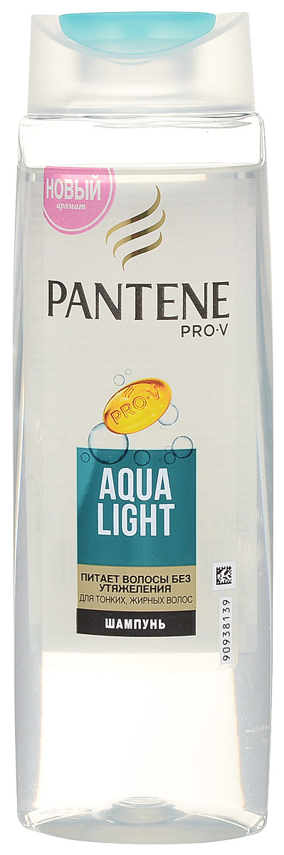 Pantene Pro-V Шампунь Aqua Light, для тонких, склоных к жирности волос, 250 мл pantene