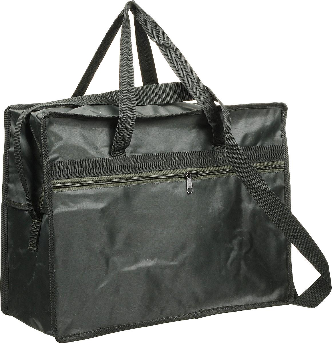 Сумка универсальная для мангала Счастливый дачник, 40 х 30 х 18 смС-УУниверсальная сумка Счастливый дачник отлично подойдет для переноски и хранения мангала и похода на пикник. Сумка выполнена из непромокаемого материала и дополнена двумя удобными ручками и плечевым ремнем, регулируемым по длине. С внешней стороны расположен вместительный карман на застежке-молнии.