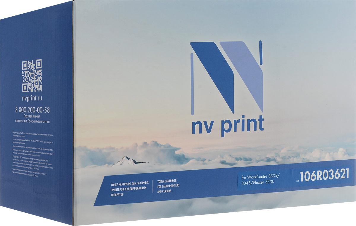 NV Print NV-106R03621, Black тонер-картридж для Xerox WorkCentre 3335/3345/Phaser 3330NV-106R03621Совместимый лазерный картридж NV Print NV-106R03621 для печатающих устройств Xerox - это альтернатива приобретению оригинальных расходных материалов. При этом качество печати остается высоким. Картридж обеспечивает повышенную чёткость чёрного текста и плавность переходов оттенков серого цвета и полутонов, позволяет отображать мельчайшие детали изображения.Лазерные принтеры, копировальные аппараты и МФУ являются более выгодными в печати, чем струйные устройства, так как лазерных картриджей хватает на значительно большее количество отпечатков, чем обычных. Для печати в данном случае используются не чернила, а тонер.