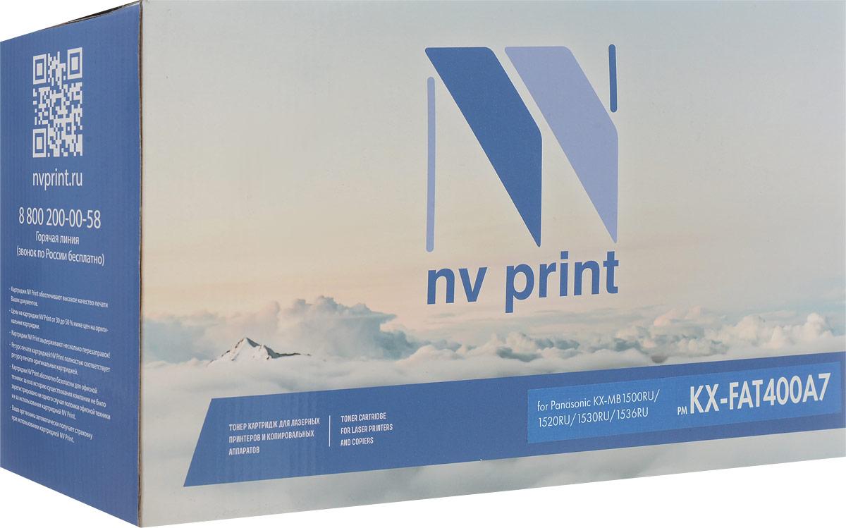 NV Print KXFAT400A7, Black тонер-картридж для Panasonic KX-MB1500RU/1520RU/1530RU/1536RUNV-KXFAT400A7Совместимый лазерный картридж NV Print KXFAT400A7 для печатающих устройств Panasonic - это альтернатива приобретению оригинальных расходных материалов. При этом качество печати остается высоким. Картридж обеспечивает повышенную чёткость чёрного текста и плавность переходов оттенков серого цвета и полутонов, позволяет отображать мельчайшие детали изображения.Лазерные принтеры, копировальные аппараты и МФУ являются более выгодными в печати, чем струйные устройства, так как лазерных картриджей хватает на значительно большее количество отпечатков, чем обычных. Для печати в данном случае используются не чернила, а тонер.