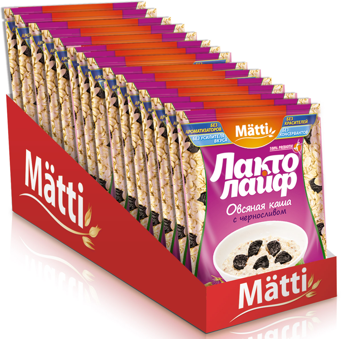 Лактолайф каша с черносливом, 15 шт по 40 г matti каша малина со сливками 15 шт по 40 г