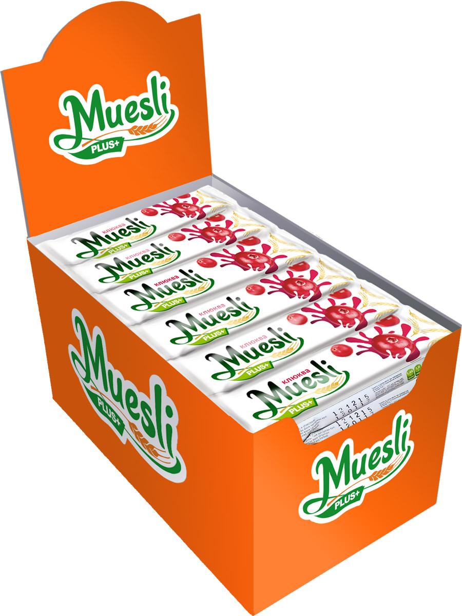 Matti Muesli Plus батончик мюсли клюква, 36 шт по 24 г energon muesli slim брусника яблоко и злаки батончик злаковый 40 г