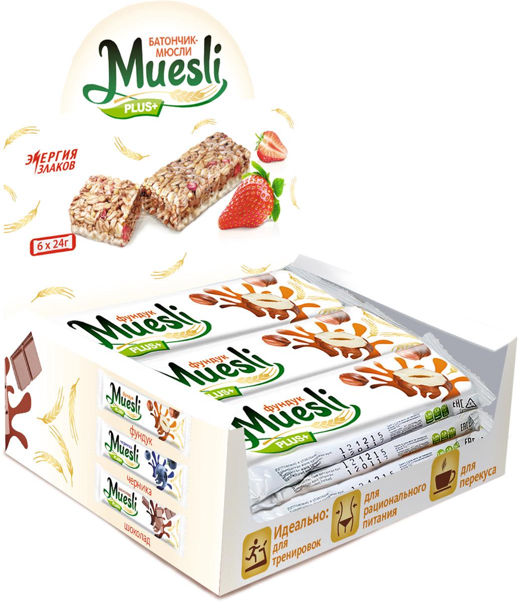 Matti Muesli Plus батончик мюсли ореховый микс, 6 шт по 24 г