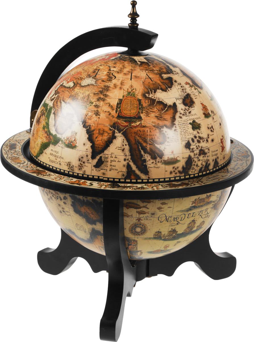 Глобус-бар напольный, диаметр 45 см