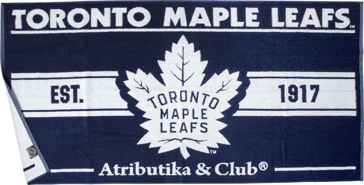 Полотенце Atributika & Club  Toronto Maple Leafs , цвет: синий, 70 х 140 см. 0809 - Хоккейные клубы