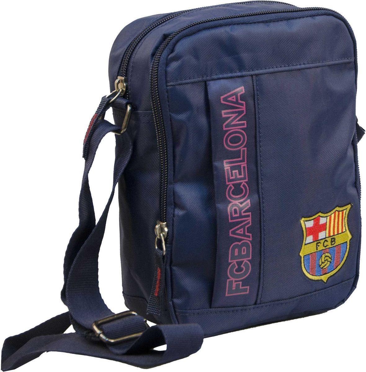 Сумка на плечо Atributika & Club  Barcelona , цвет: синий, гранатовый, 15 л. 18922 - Футбольные клубы