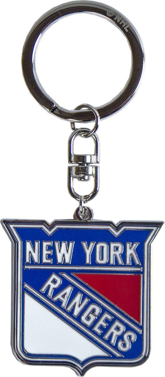 Брелок Atributika & Club New York Rangers, цвет: синий, красный. 5500555005Брелок Atributika & Club выполнен из металла в виде символики вашего любимого клуба. Брелок дополнен небольшой цепочкой и заводным кольцом. Длина: 4,5 см.