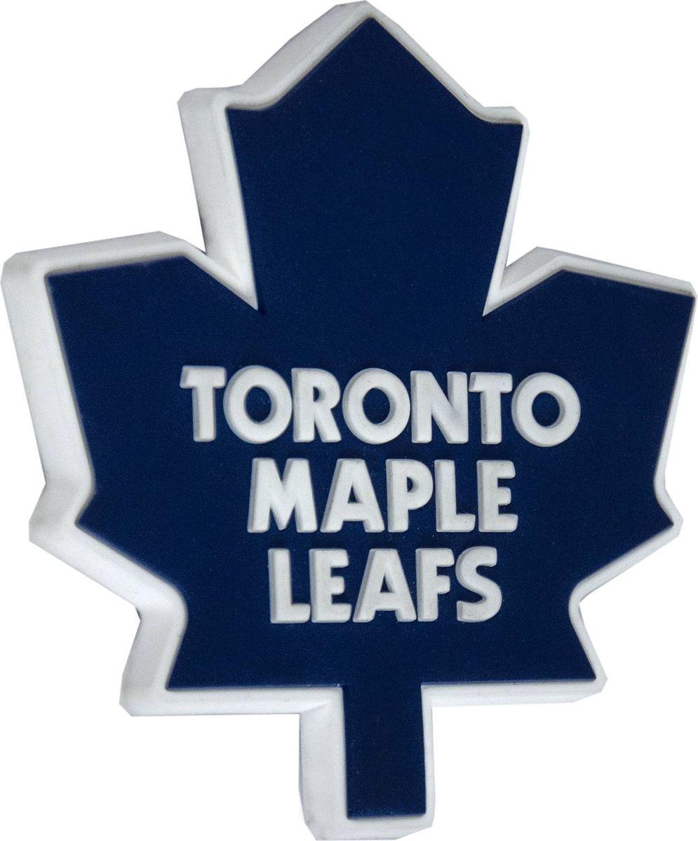 Магнит Atributika & Club Toronto Maple Leafs, цвет: сиий, белый. 5600356003Магнит Atributika & Club выполнен из полимерного материала в виде символики вашего любимого клуба.Длина: 8 см.