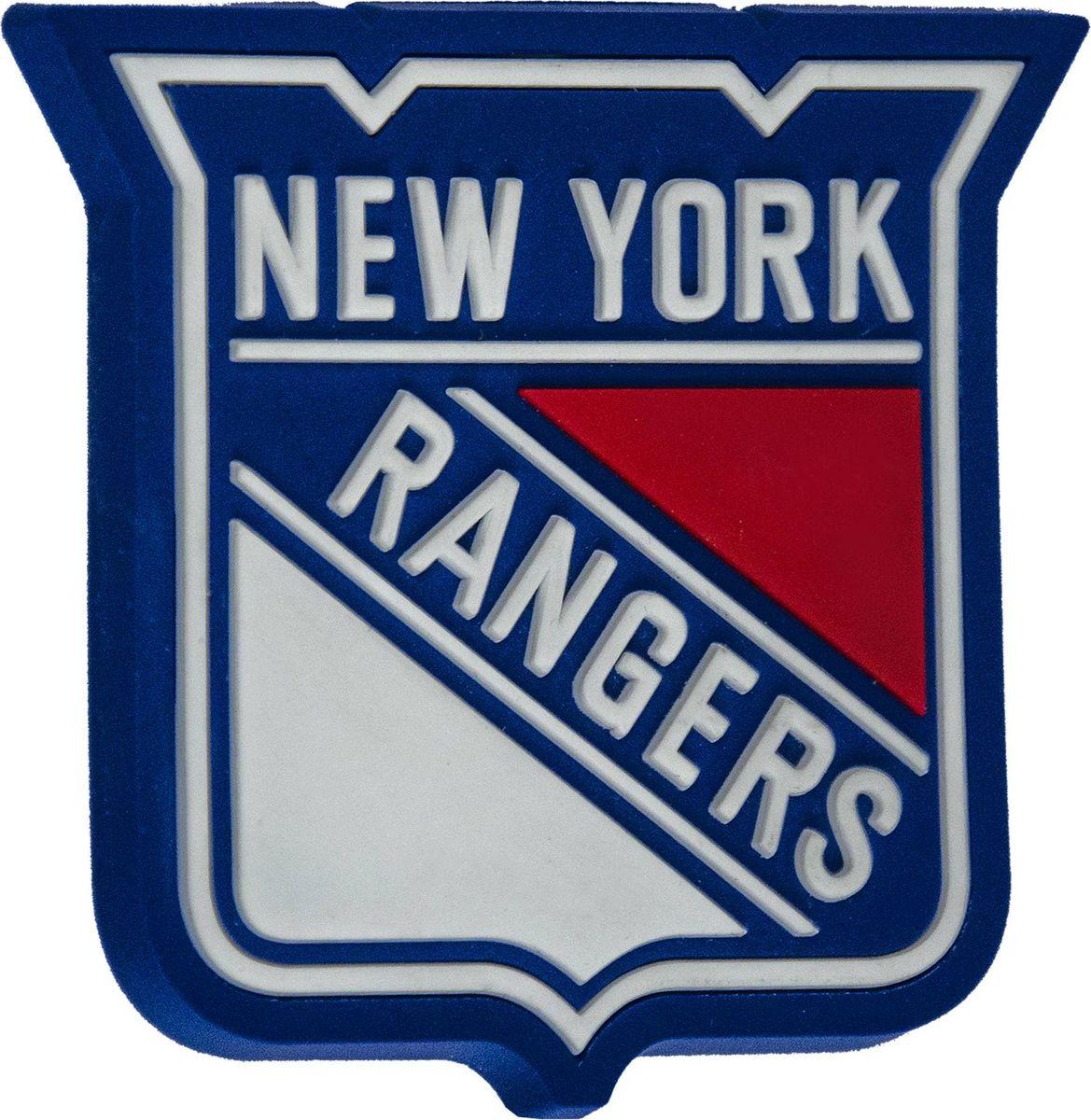 Магнит Atributika & Club New York Rangers, цвет: синий, красный. 5600556005Магнит Atributika & Club выполнен из полимерного материала в виде символики вашего любимого клуба.Длина: 8 см.