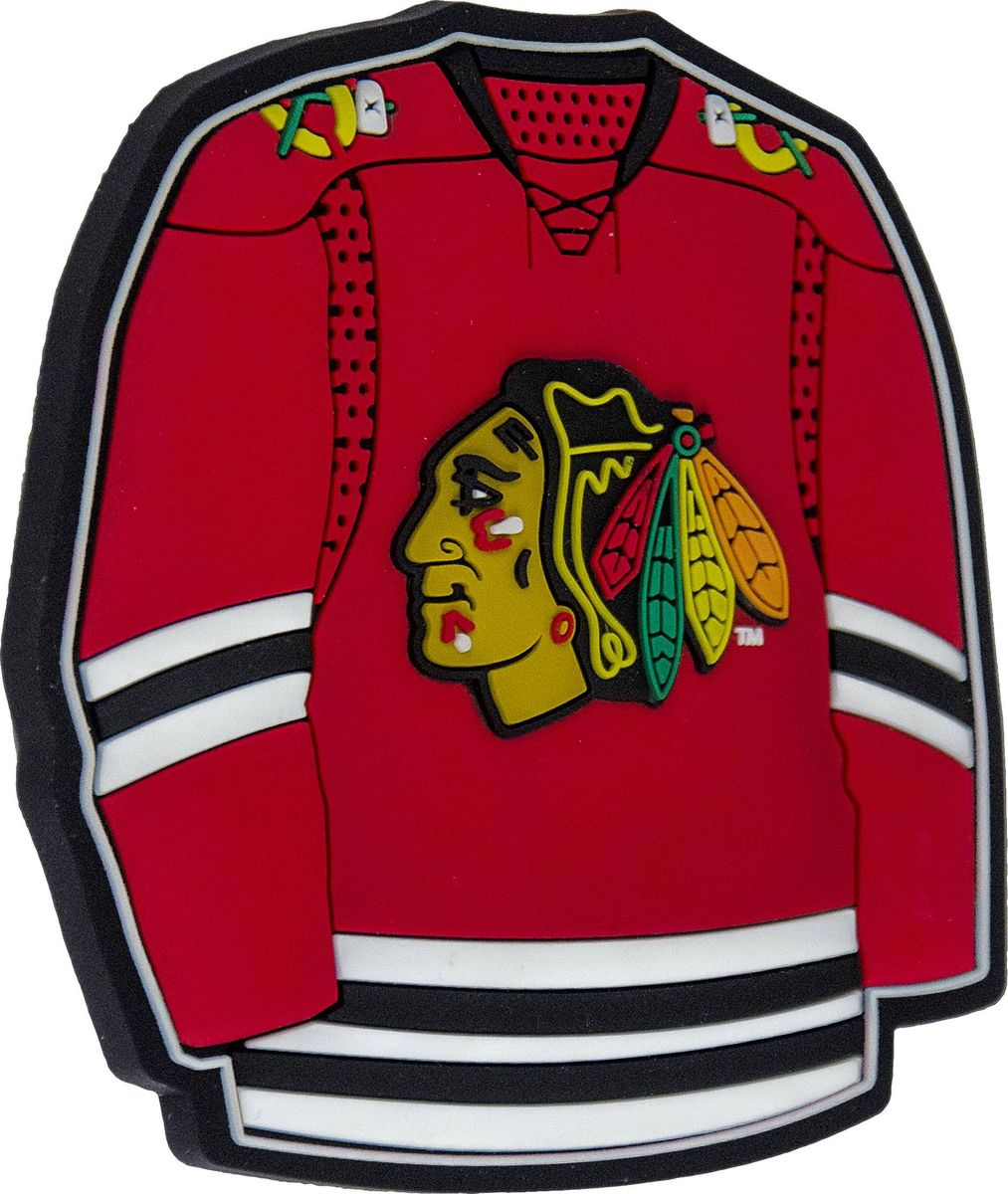 "Магнит Atributika & Club ""Chicago Blackhawks"", цвет: красный. 56008"