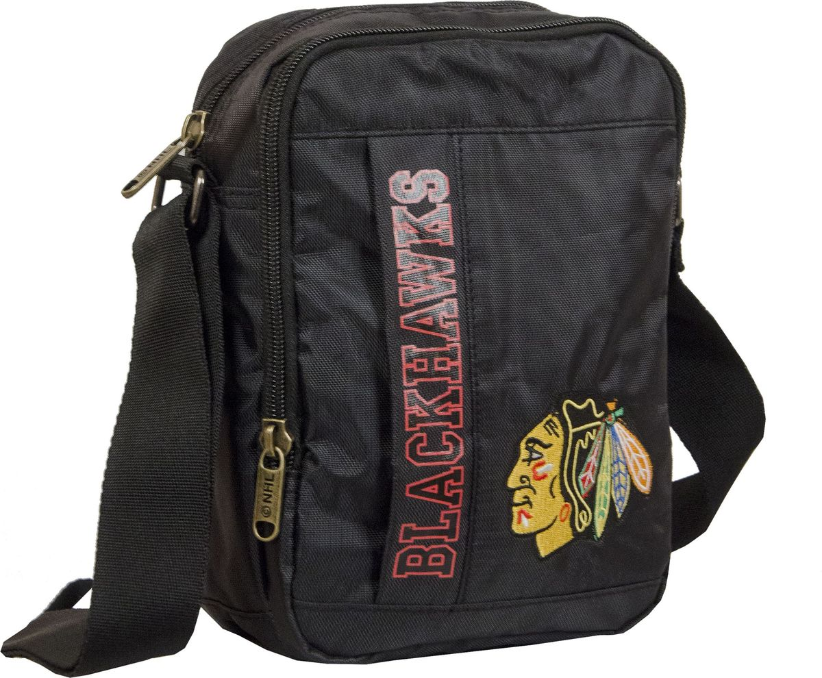 Сумка на плечо Atributika & Club  Chicago Blackhawks , цвет: черный, 15 л. 58032 - Хоккейные клубы