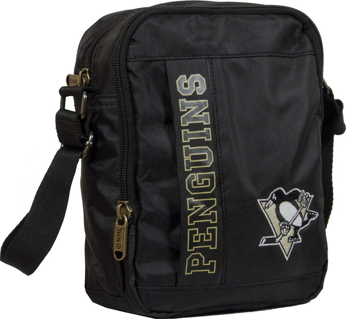 Сумка на плечо Atributika & Club  Pittsburgh Penguins , цвет: черный, 15 л. 58033 - Хоккейные клубы