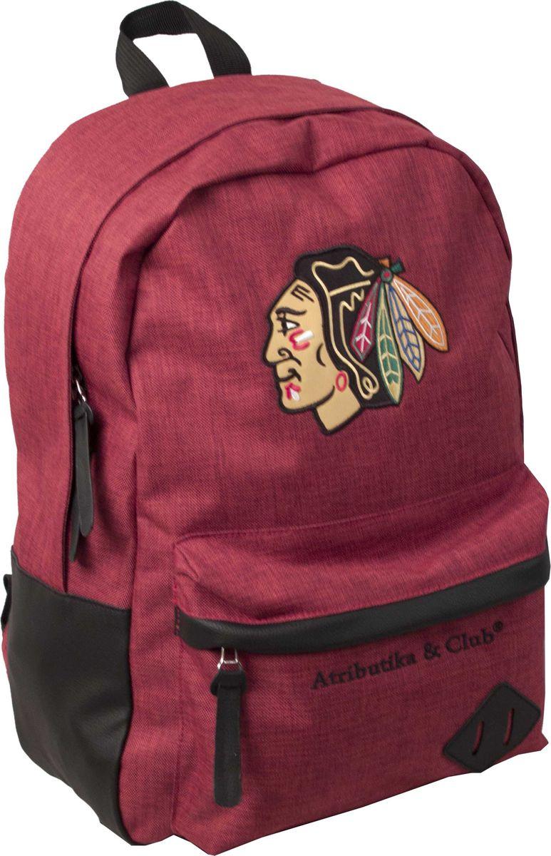 Рюкзак Atributika & Club  Chicago Blackhawks , цвет: красный, 25 л. 58053 - Хоккейные клубы