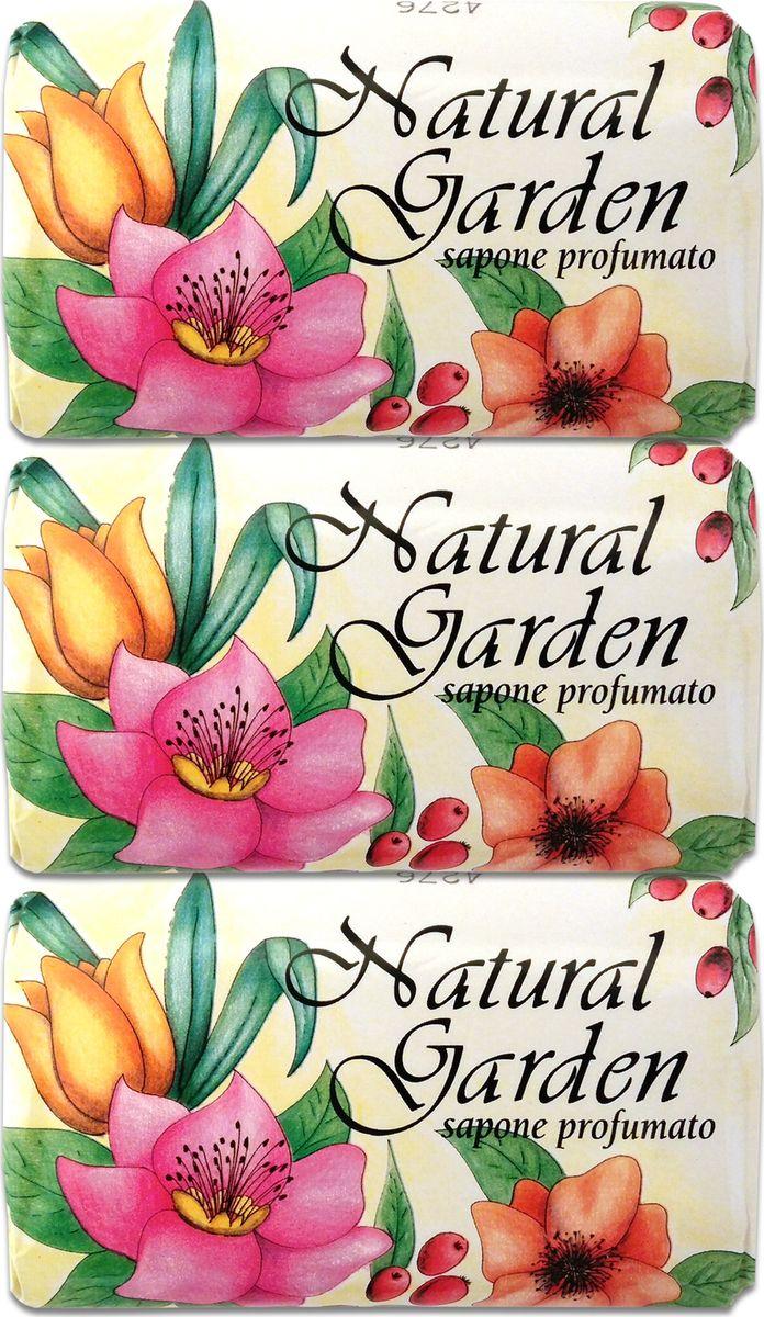 Nesti Dante Набор мыла Natural Garden Profumato Природный сад Душистое, 3 х 125 г