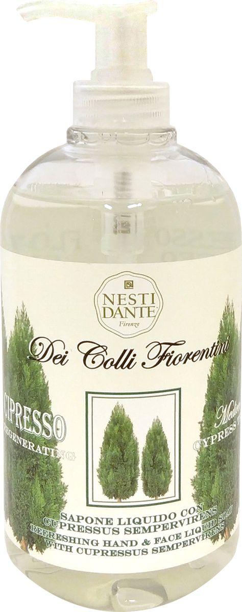 Nesti Dante Жидкое мыло Cypress Tree Кипарис, 500 мл5056106Кипарис - красивое, вечнозеленое дерево, в изобилии произрастающеена холмах Тосканы с «богатым» древесным ароматом являетсяосновным активным ингредиентом жидкого мыла. Он обладает восстанавливающими свойствами, деликатновоздействуют даже на чувствительную кожу. Простой рецептмолодости и здоровья Вашей кожи!Без парабенов.