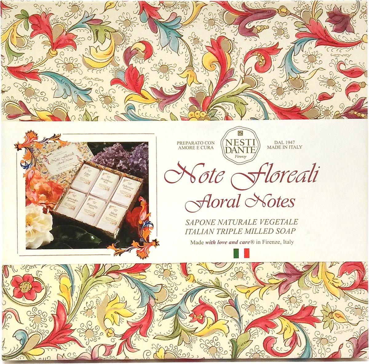 Nesti Dante Набор мыла цветочные ноты, 6 х 100 г6101103Набор мыла Цветочные ноты не оставит никого равнодушным. Содержит 6кусочков мыла с ароматами цветов.