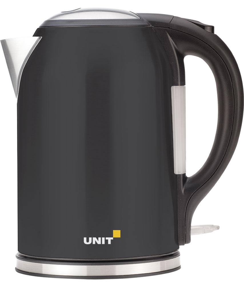Unit UEK-270, Black электрический чайникCE-0454543Электрический чайник Unit UEK-270 прост в управлении и долговечен в использовании. Он изготовлен из высококачественных материалов. Мощность 2000 Вт позволит вскипятить 1,8 литра воды в считанные минуты. Беспроводное соединение позволяет вращать чайник на подставке на 360°. Для обеспечения безопасности при повседневном использовании предусмотрены функция автовыключения, а также защита от включения при отсутствии воды.