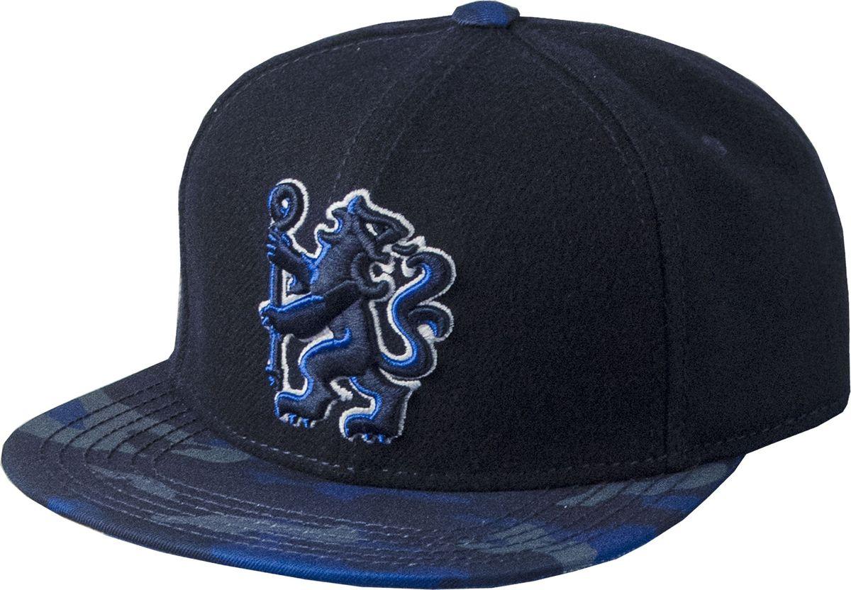 Бейсболка Atributika & Club Chelsea, цвет: синий, черный. 09012. Размер 55/58