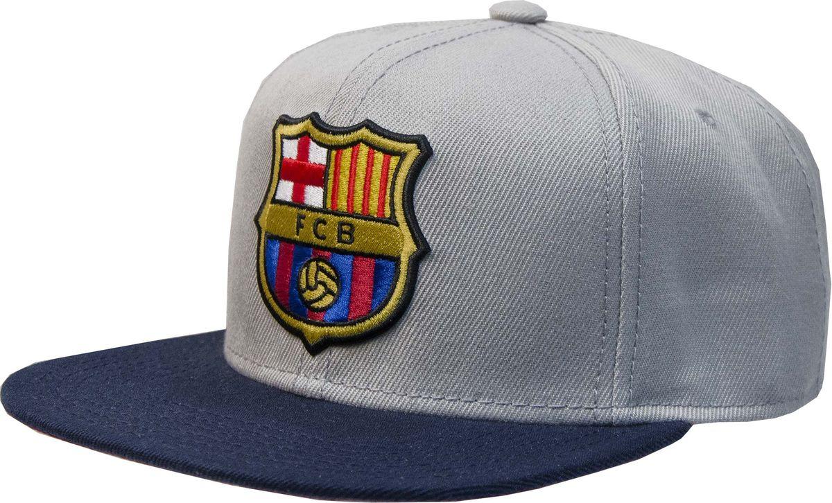 Бейсболка Atributika & Club Barcelona, цвет: серый. 107715. Размер 55/58107715Бейсболка с логотипом ФК Barcelona выполнена из высококачественного материала. Модель дополнена широким твердым козырьком и оформлена объемной вышивкой. Бейсболка имеет перфорацию, обеспечивающую необходимую вентиляцию. Объем изделия регулируется фиксатором.