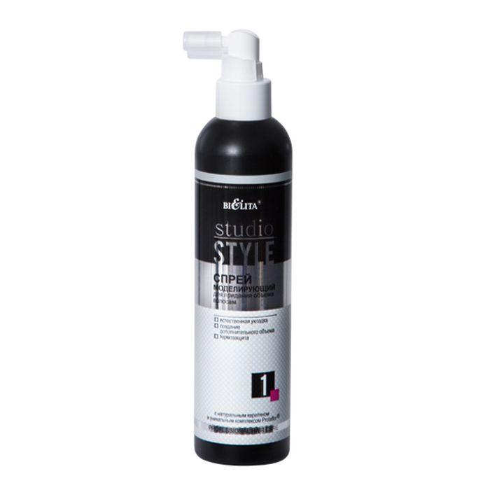 Белита Спрей моделирующий для придания Объема волосам ПЛ Studio Style, 250 млB-1198с натуральным кератином и уникальным комплексом Protaflor®естественная укладка создание дополнительного объема термозащитаМоделирующий спрей для придания объема волосам предназначен для создания легких объемных укладок. Защищает волосы от термических повреждений и агрессивного воздействия окружающей среды. Идеально подходит для работы брашингом, при укладке феном или накрутке на бигуди. Защищает цвет окрашенных волос. Активные ингредиенты спрея восстанавливают структуру волос по всей длине, увлажняют и кондиционируют волосы, придавая им дополнительный объем, сияние и великолепный блеск.для профессионального применения