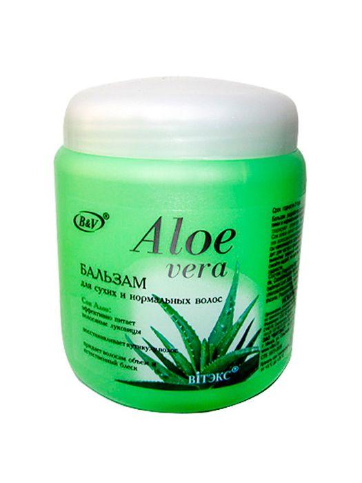 Витэкс Aloe Vera Бальзам для сухих и нормальных волос, 450 мл бальзам для губ belweder бальзам жидкий aloe vera объем 7 мл