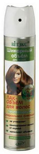 Витэкс Шикарный Объем для волос Лак-Объем для волос протеиновый супер сильная фиксация для всех типов волос, 300 мл
