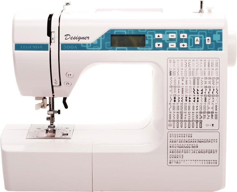 Legenda 500А швейная машинаLegenda 500АLegenda 500А - самая современная электронная компьютерная швейная машинка с программным управлением операциями. Это полностью компьютерная модель, по стоимости обычной электромеханической машинки!Самая современнаяэлектронная компьютерная швейная машинка с программным управлением операциями.В отличии от управления через механические копиры, операции осуществляются по команде компьютера шаговыми двигателями. Челнок: горизонтальныйКоличество операций: 190 Строчки: рабочие, оверлочные, трикотажные, подшивочные и декоративные строчки. Русский и английский алфавит. 8 видов петли - автомата! Отличительные особенности:- съемный рукав-столик- кнопка реверса (обратного хода) - плавная регулировка скорости шитья при помощи педали - современная светодиодная подсветка рабочей зоны - автоматический нитевдеватель- автоматическое позиционирование иглы при остановке.Вес: 5,3 кг. Размеры: 38 х 31 х 17 см.