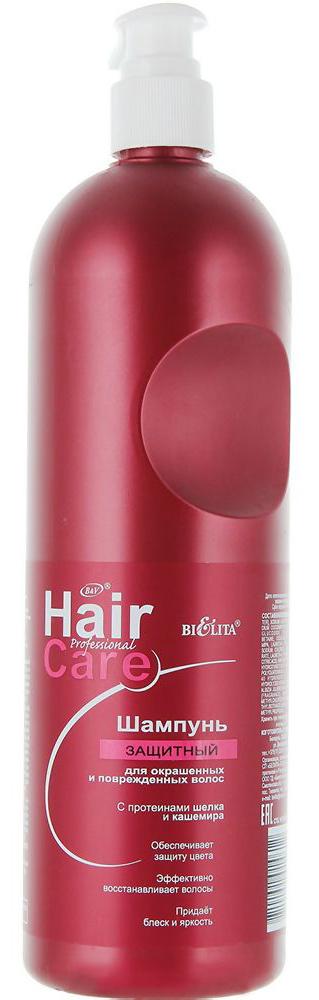 Белита Шампунь защитный для окрашенных и поврежденных волос, 1000 млВ-927Назначение: Профессиональный уходЛиния: Professional Hair Care• обеспечивает защиту цвета • эффективно восстанавливает волосы • придаёт блеск и яркость Шампунь с протеинами шелка и кашемира мягко моет волосы и кожу головы за счёт входящего в состав мыльной основы кокосового масла (натуральный растительный моющий компонент).Обладает сбалансированной кислотной формулой для активной защиты окрашенных волос всех оттенков и направлений цвета. Нейтрализует щелочной уровень волос и кожи головы после окрашивания перманентными красителями, стабилизирует цвет. Предотвращает выцветание и вымывание цветовых пигментов изнутри волоса, придаёт дополнительный блеск.1000 мл