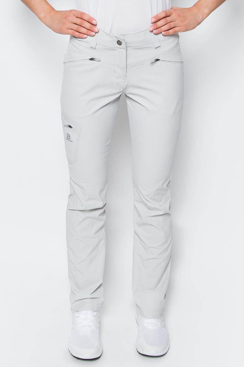 Купить Брюки спортивные женские Salomon Wayfarer Pant, цвет: серый. L39299100. Размер 40-32 (48-32)