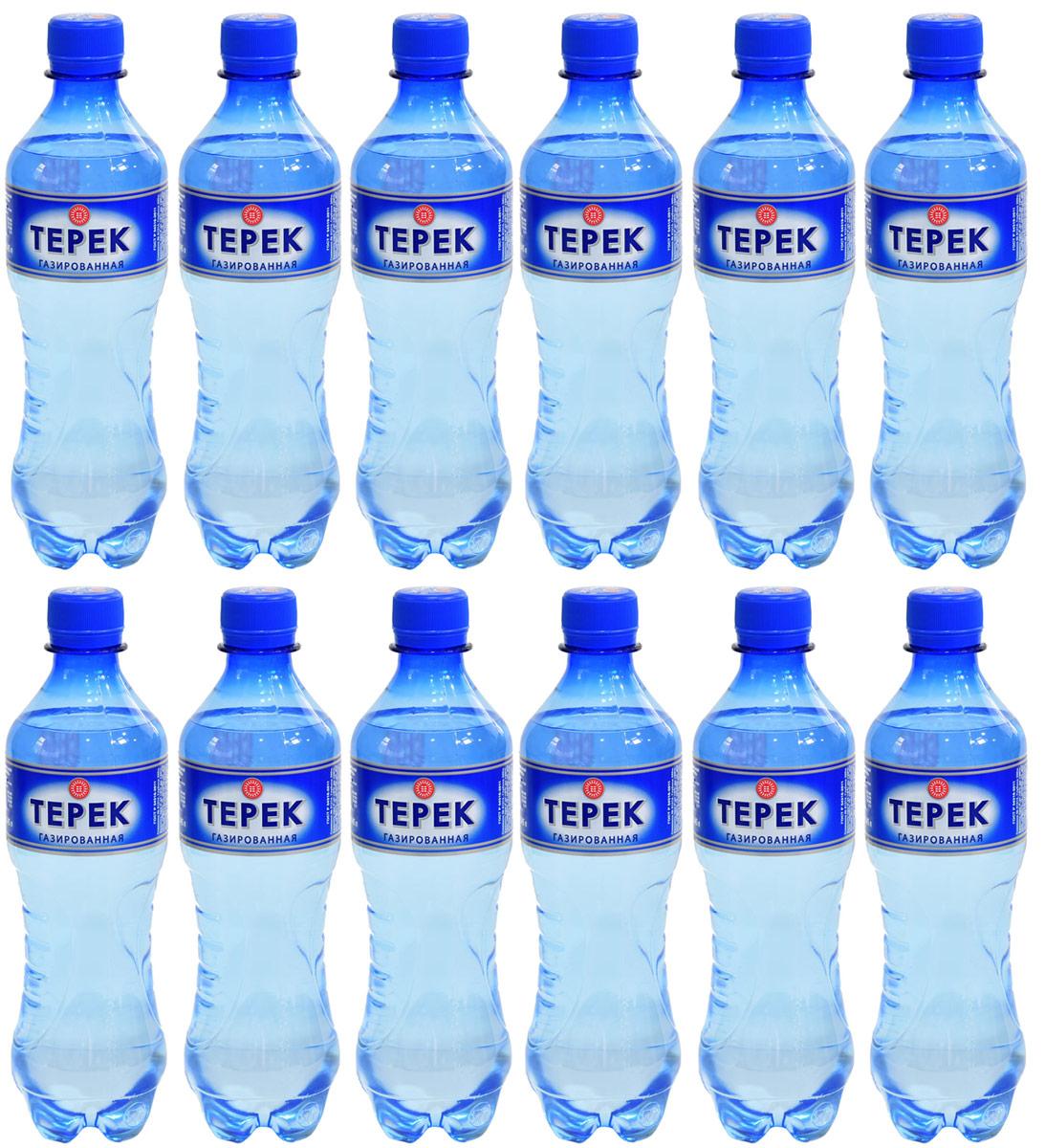 Терек вода минеральная газированная, 12 шт по 0,5 л232-11Натуральная минеральная столовая вода имеет природное происхождение. По микроэлементному составу полностью идентична хлоридно-гидрокарбонатным минеральным водам Кавказа. Рекомендована к регулярному использованию для питья и приготовления пищи. Не содержит каких либо вредных и токсичных элементов, способствует очищению организма от шлаков, улучшает обмен веществ, повышает иммунитет. Скважина № 81214, глубина 260 метров.