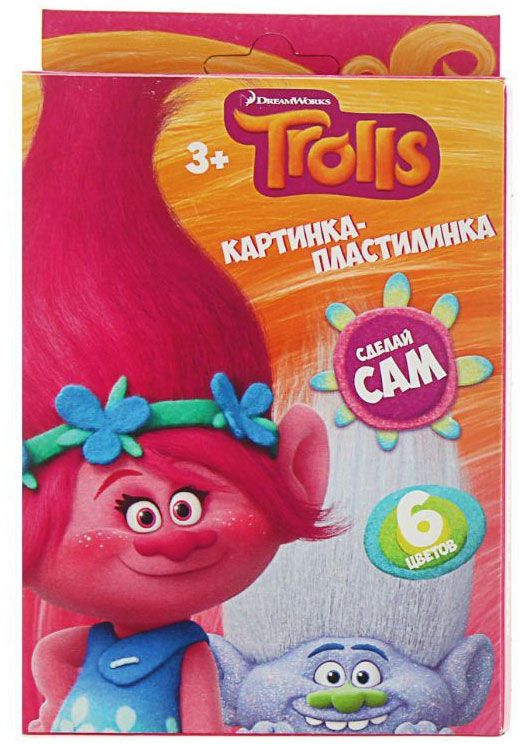 Trolls Пластилин со стеком 6 цветов 120 г1802685Изделия данной категории необходимы любому человеку независимо от рода его деятельности. У нас представлен широкий ассортимент товаров для учеников, студентов, офисных сотрудников и руководителей, а также товары для творчества.