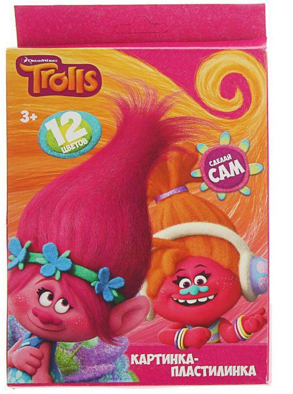 Trolls Пластилин со стеком 12 цветов 240 г 18026861802686Яркий и легко размягчающийся пластилин поможет вашему малышу создать множество интересных поделок, а любимые герои мультфильма вдохновят его на новые творческие идеи. Лепить из этого пластилина легко и приятно: он обладает отличными пластичными свойствами, не липнет к рукам, не имеет запаха, его цвета легко смешиваются друг с другом. Создавайте новые цвета и оттенки, фантазируйте, экспериментируйте - это увлекательно и полезно: лепка активно тренирует у ребенка мелкую моторику и умение работать пальчиками, развивает тактильное восприятие формы, веса и фактуры, совершенствует воображение и пространственное мышление. В комплекте 12 цветов и пластиковый стек. Состав: парафин, петролатум, мел, каолин, красители.