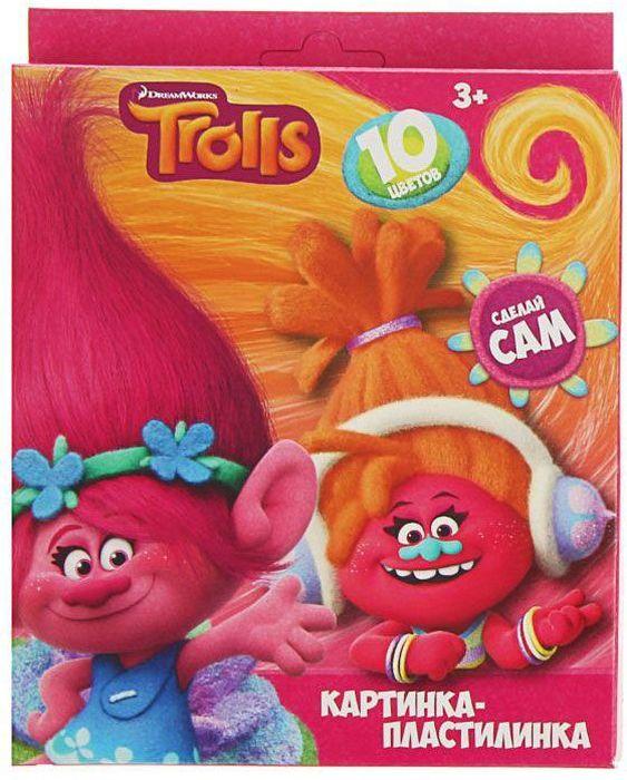 Trolls Пластилин со стеком 10 цветов 200 г1802687Яркий и легко размягчающийся пластилин поможет вашему малышу создать множество интересных поделок, а любимые герои мультфильма вдохновят его на новые творческие идеи. Лепить из этого пластилина легко и приятно: он обладает отличными пластичными свойствами, не липнет к рукам, не имеет запаха, его цвета легко смешиваются друг с другом. Создавайте новые цвета и оттенки, фантазируйте, экспериментируйте - это увлекательно и полезно: лепка активно тренирует у ребенка мелкую моторику и умение работать пальчиками, развивает тактильное восприятие формы, веса и фактуры, совершенствует воображение и пространственное мышление. В комплекте 10 цветов и пластиковый стек. Состав: парафин, петролатум, мел, каолин, красители.