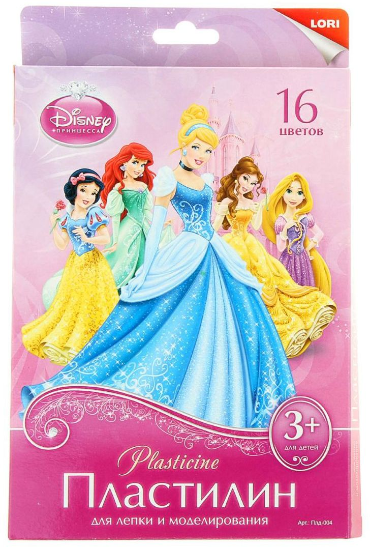 Disney Пластилин Принцессы 16 цветов пластилин детский классика 16 цветов 20с 1329 08