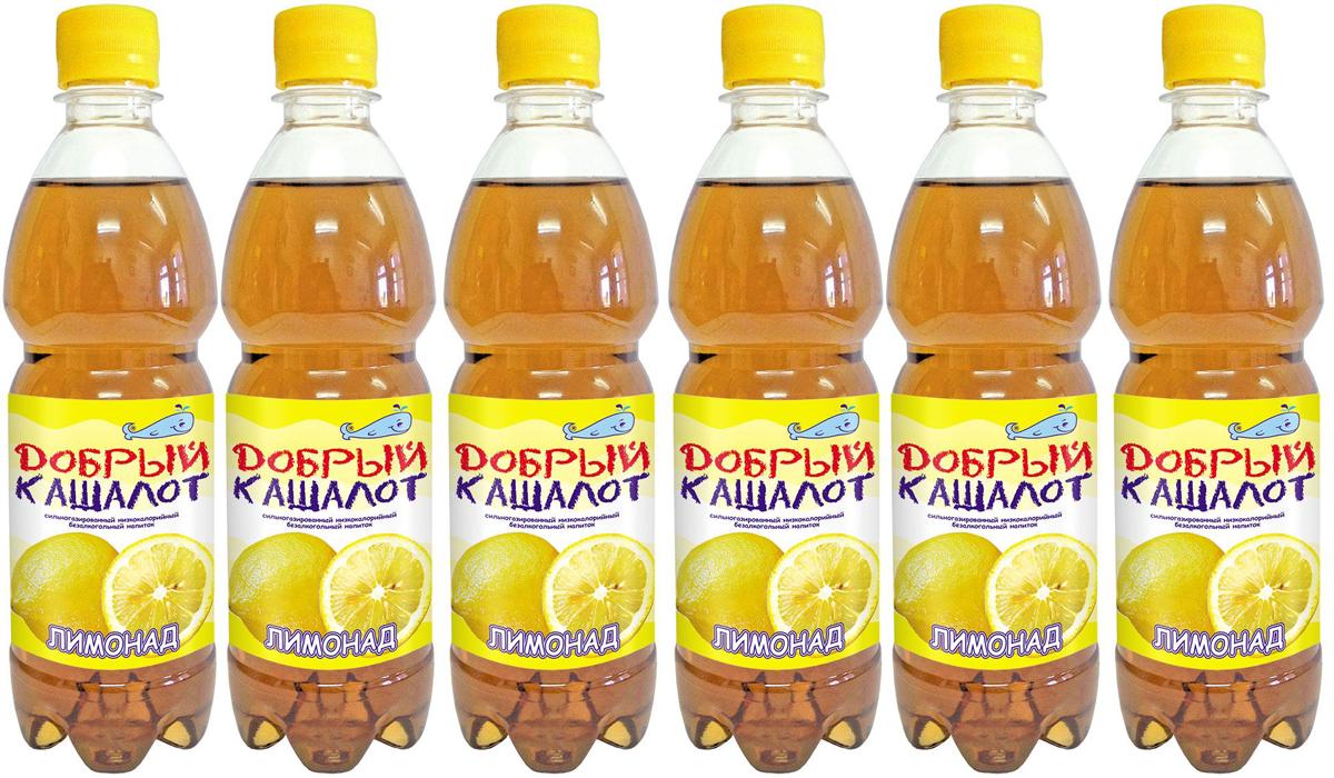 Добрый кашалот напиток газированный Лимонад, 6 шт по 0,5 л добрый pulpy апельсин напиток сокосодержащий с мякотью 0 9 л