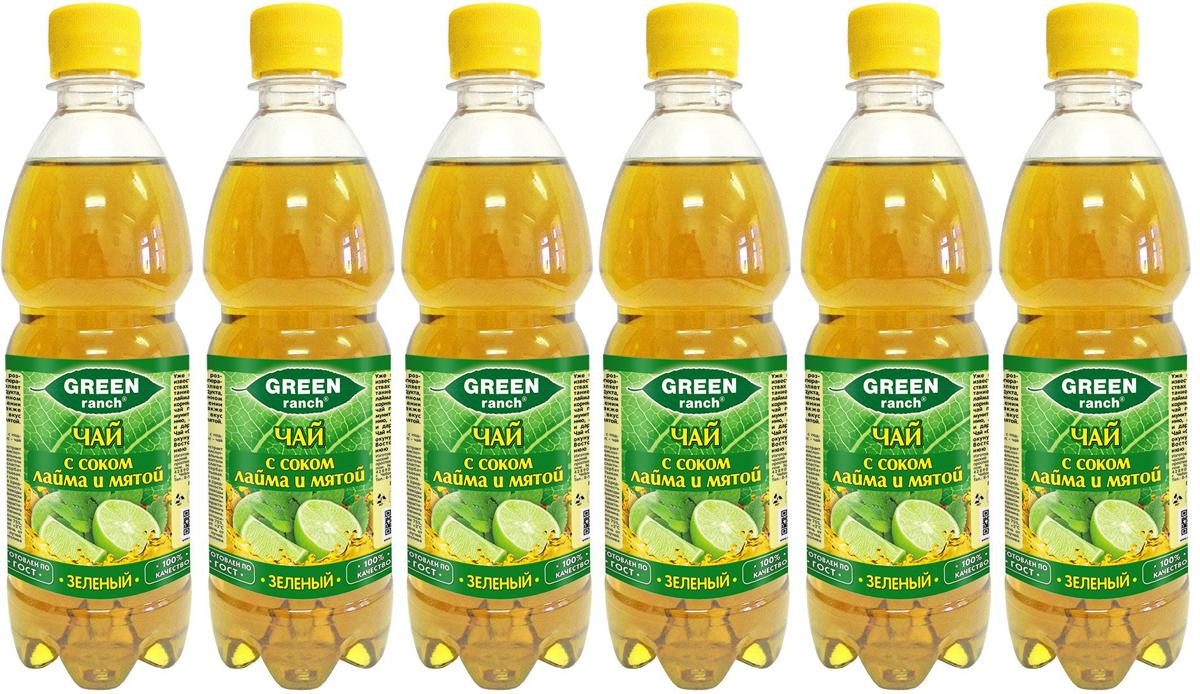 Green Ranch чай холодный зеленый с соком лайма и мятой, 6 шт по 0,5 л4610008504439Green Ranch - освежающее сочетание зеленого чая с соком лайма и мятой.