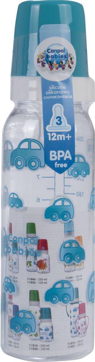Canpol Babies Бутылочка с силиконовой соской от 12 месяцев цвет бирюзовый 250 мл mepsi бутылочка для кормления с силиконовой соской от 0 месяцев цвет бирюзовый 125 мл