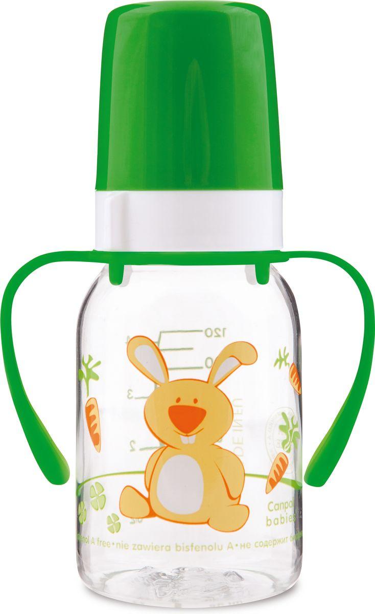 Canpol Babies Бутылочка Зайка с силиконовой соской от 3 месяцев цвет зеленый 120 мл