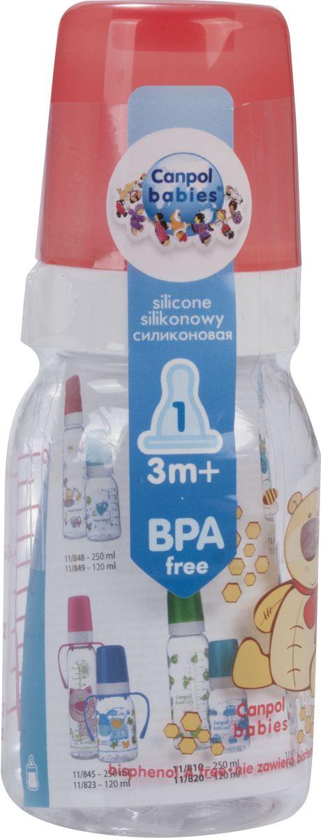 Canpol Babies Бутылочка Мишка с силиконовой соской от 3 месяцев 120 мл