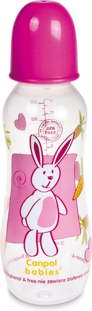 Canpol Babies Бутылочка с силиконовой соской от 12 месяцев цвет розовый 330 мл