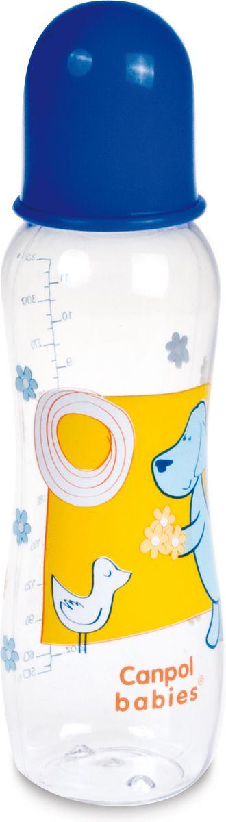 Canpol Babies Бутылочка с силиконовой соской от 12 месяцев цвет синий 330 мл babies стульчик для кормления h 1 babies panda