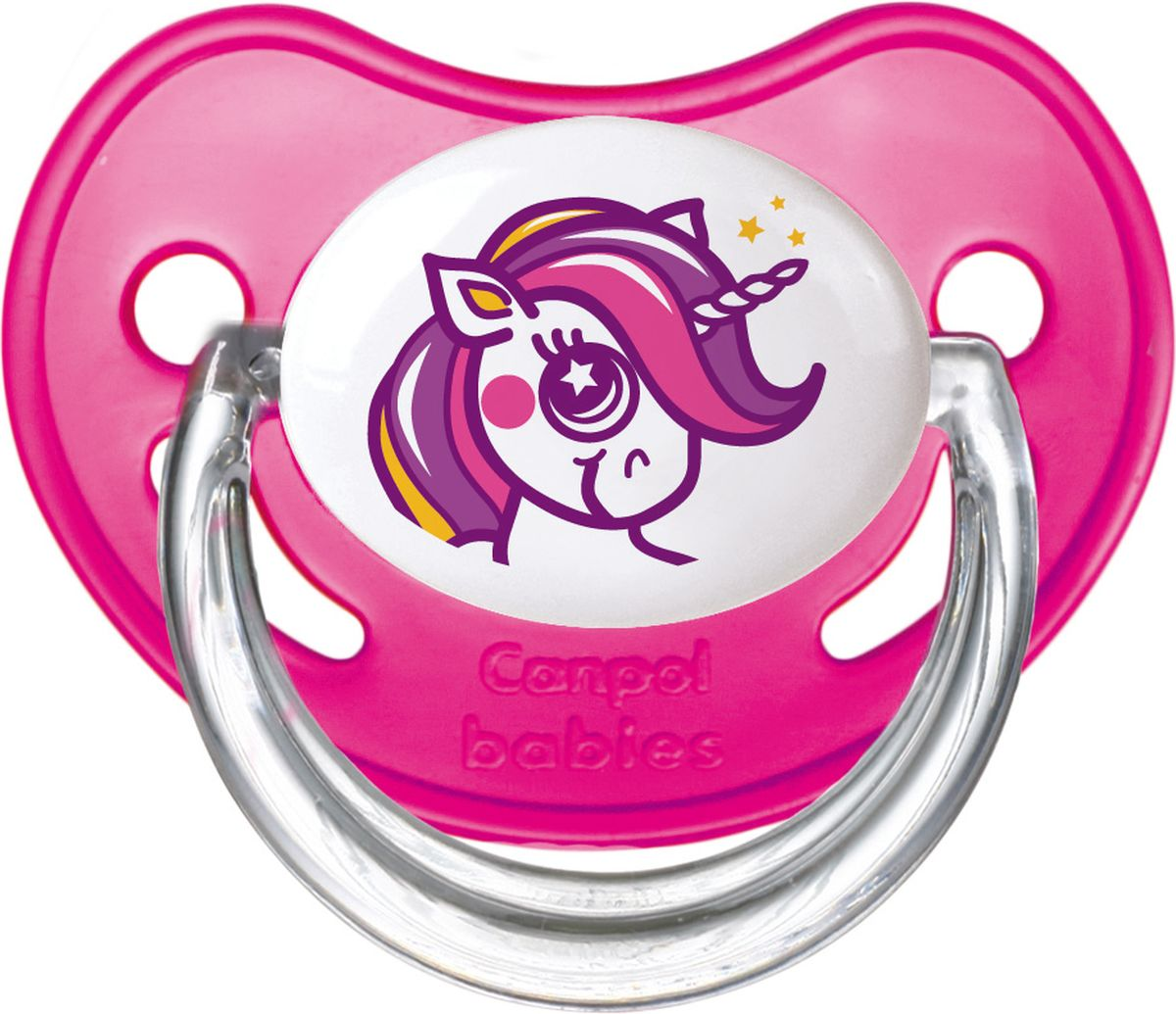Canpol Babies Пустышка латексная ортодонтическая Fairy Tale от 0 до 6 месяцев цвет розовый