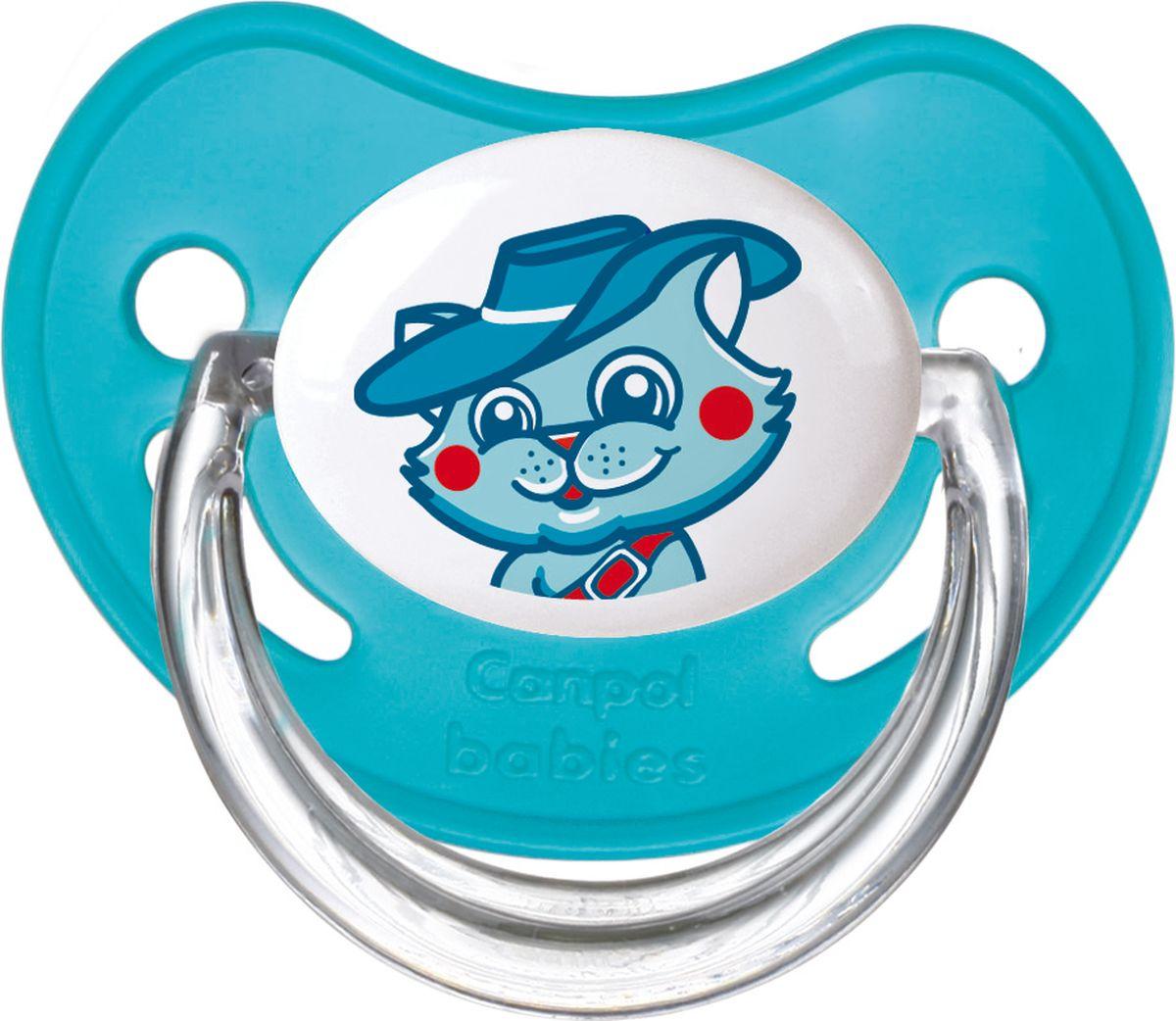 Canpol Babies Пустышка латексная ортодонтическая Fairy Tale от 6 до 18 месяцев цвет бирюзовый