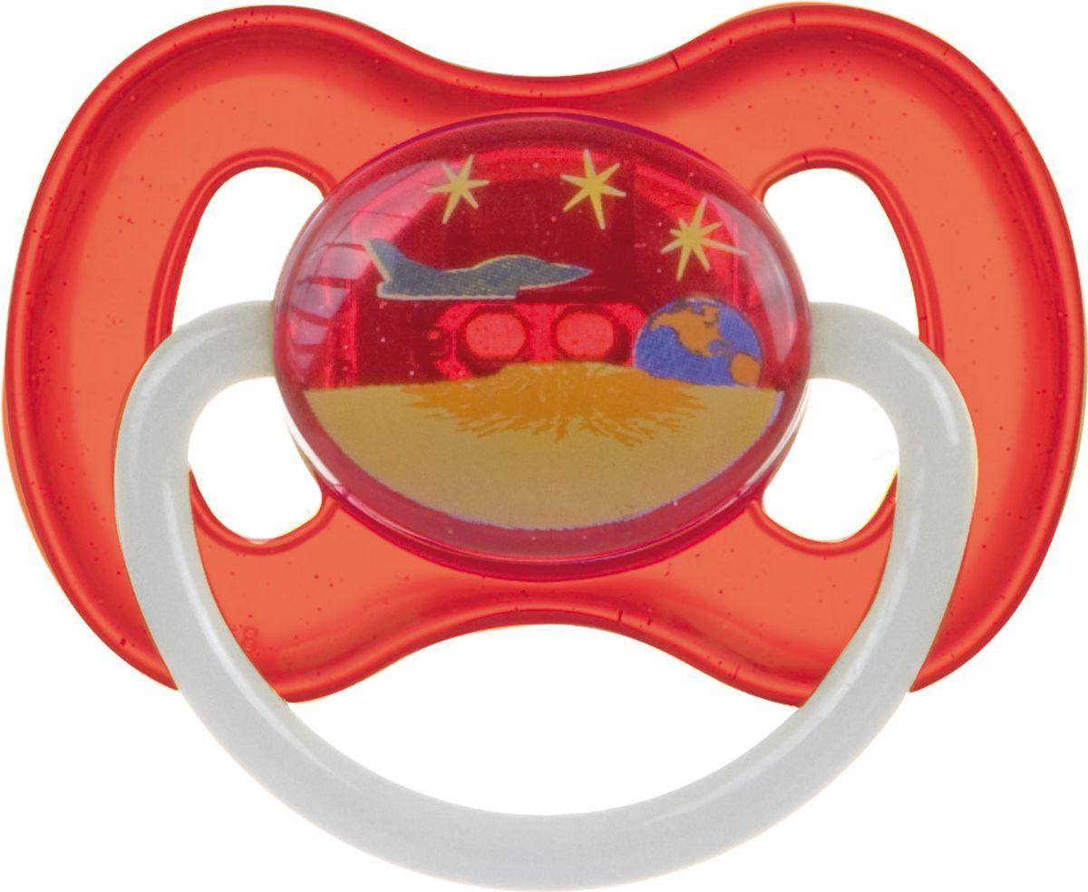 Canpol Babies Пустышка силиконовая круглая Space от 0 до 6 месяцев цвет красный
