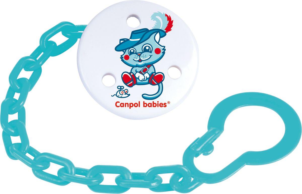 Canpol Babies Клипса-держатель для пустышки Fairy Tale цвет синий canpol babies клипса держатель для пустышки newborn baby цвет розовый