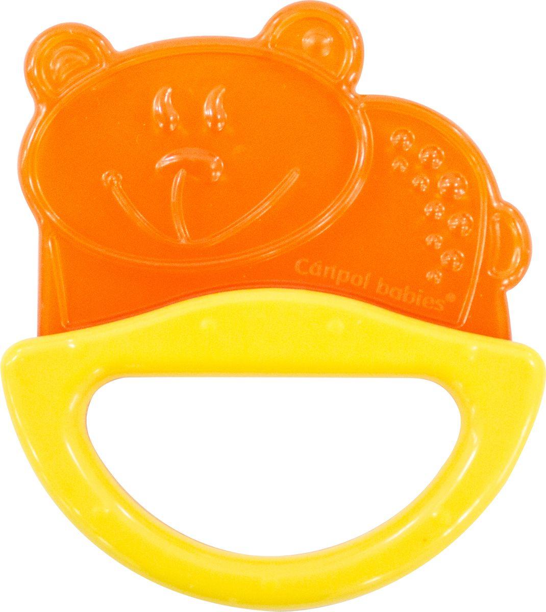 Canpol Babies Погремушка-прорезыватель Мишка цвет желтый canpol babies прорезыватель водный охлаждающий мишка цвет желтый